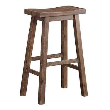 Fruitwood Saddle Stool
