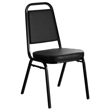 Conference Chair Black Padded