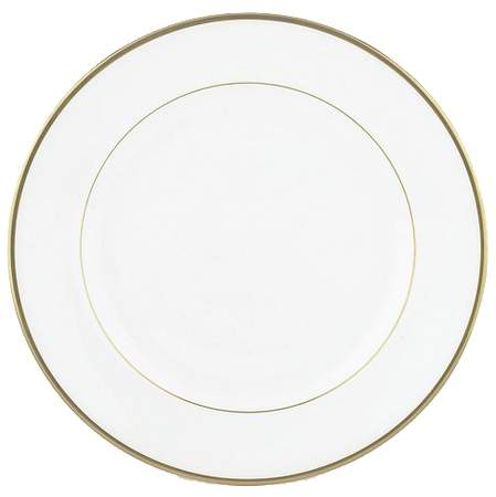 White with Gold Band Chop Plate 12""