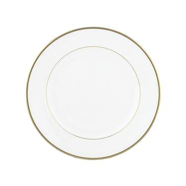 White with Gold Band Bread & Butter Plate 6.75""