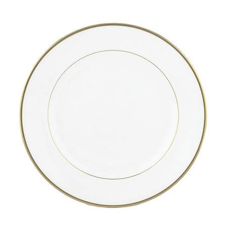 """White with Gold Band Luncheon Plate 9"""""""