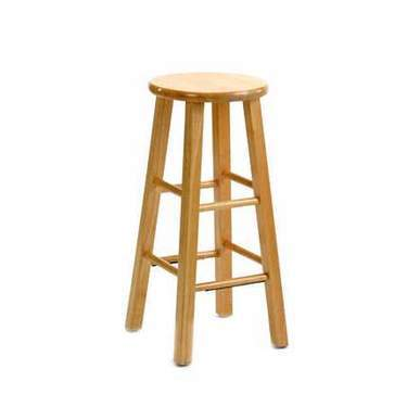 Wood Barstool Natural