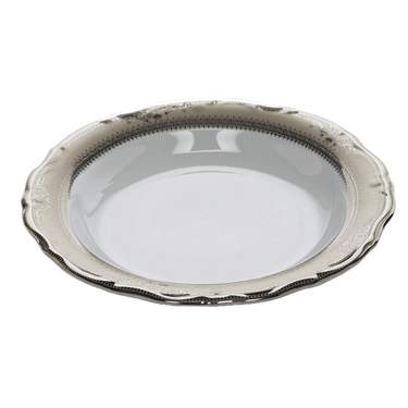 Vanessa Platinum Rim China - Soup Bowl
