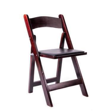 Folding Chair Mahogany Resin