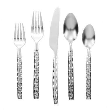 Hammered Stainless Flatware