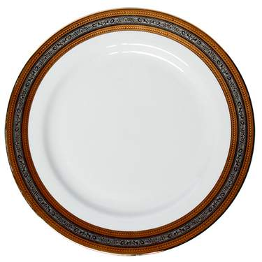 """Elegance Gold & Silver Charger Plate 12"""""""