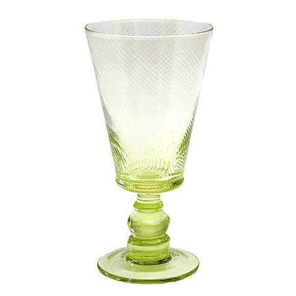 Roma Water Goblet Green 8oz