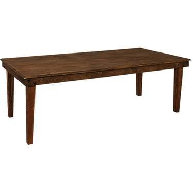 """Farm Table 8' x 40"""" Fruitwood"""