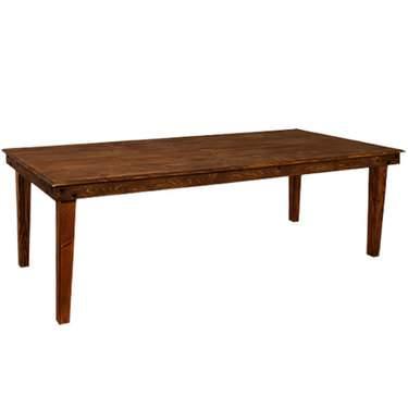 """Farm Table 8' x 28.5"""" Fruitwood"""