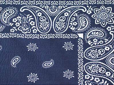 "Bandana Blue 90"" Square"