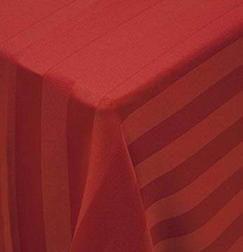 "Poly Satin Stripe Burgundy 108"" Round"