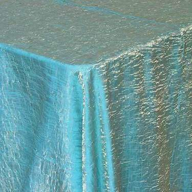 Iridescent Lamour Turquoise Gold Linens