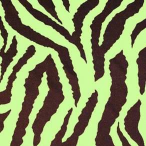 "Lamour Safari Zebra Lime & Chocolate 90"" Square"