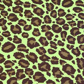 "Lamour Safari Jaguar Lime & Chocolate 90"" Square"