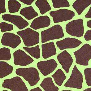 "Lamour Safari Giraffe Lime & Chocolate 90"" Square"
