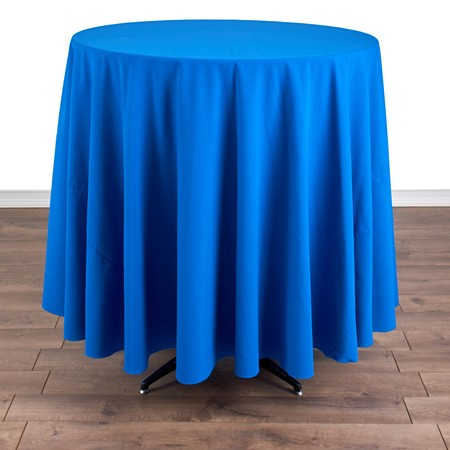 "Iridescent Crush Royal Blue 108"" Round with 36"" round (42""H) Tables"