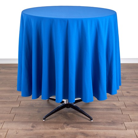 "Polyester Royal Blue 90"" Round with 36"" round (42""H) Tables"