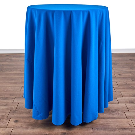 "Iridescent Crush Royal Blue 108"" Round with 30"" round (42""H) Tables"