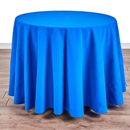"Poly Navy Blue Satin Stripe Round 90"" with 36"" round (30""H) Tables"