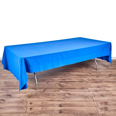 "Banquet King's Table 8' x 48"" with 72"" x 144"" Linens"